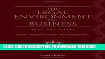 [PDF] The Legal Environment of Business: Text and Cases: Ethical, Regulatory, Global, and