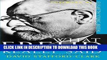 New Book What Freud Really Said: An Introduction to His Life and Thought (What They Really Said