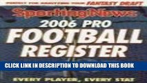 [Read PDF] 2006 Pro Football Register: Every Player, Every Stat 2006 Edition Download Online