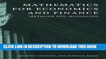 [PDF] Mathematics for Economics and Finance: Methods and Modelling Full Colection