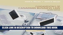 [PDF] Fundamentals of Canadian Business Law, Second Edition Full Online