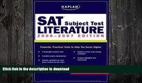 READ  Kaplan SAT Subject Test: Literature 2006-2007 (Kaplan SAT Subject Tests: Literature)  BOOK