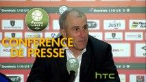 Conférence de presse RC Lens - US Orléans (4-2) : Alain  CASANOVA (RCL) - Olivier FRAPOLLI (USO) - 2016/2017