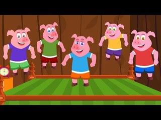 Cinco porquinhos | Five little piggies | rima de berçário