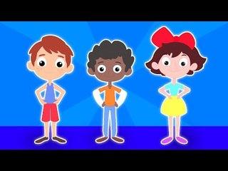 Hokey Pokey Agite   Cartoon para crianças   Popular berçário do rima   crianças Canção