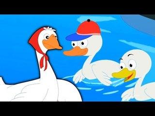 Cinco patitos | Cartoon para niños | video educativo | de la poesía infantil | Five Little Ducks