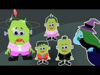 Five Little Monsters | пять маленьких монстров рифму | популярные детской песни