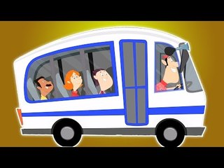 Räder auf dem Bus | Cartoon für Kinder | Beliebt Kinderlied | Wheels on the Bus