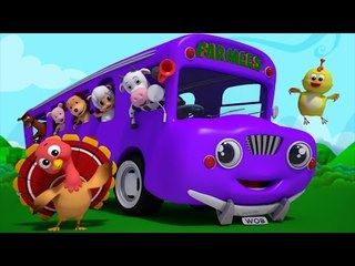 Wheels On The Bus | 3d Baby Songs | Nursery Rhymes For Kids