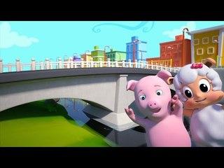london bridge is falling down | nursery rhymes farmees | kids songs | 3d rhymes