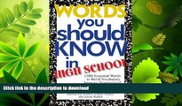 READ BOOK  Words You Should Know In High School: 1000 Essential Words To Build Vocabulary,