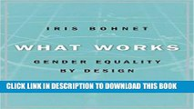 [PDF] What Works: Gender Equality by Design Full Collection[PDF] What Works: Gender Equality by