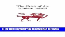 New Book The Crisis of the Modern World (Collected Works of Rene Guenon)