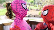 Spiderman Vs Spidergirl - Superhero Battle! w_ Hulk and Joker Superhero Time Adventures Episode 3