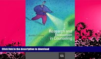 READ BOOK  Research and Evaluation in Counseling (Research, Statistics,   Program Evaluation)