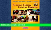 FAVORIT BOOK Reading Better, Reading Smarter: Designing Literature Lessons for Adolescents FREE