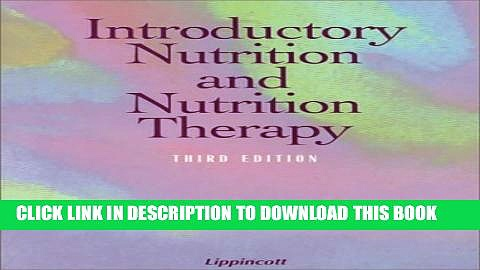 New Book Introductory Nutrition and Nutrition Therapy