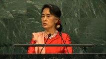 Aung San Suu Kyi s'adresse à l'Assémblée Générale de l'ONU
