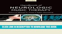 New Book Handbook of Neurologic Music Therapy