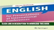 New Book English for Presentations at International Conferences