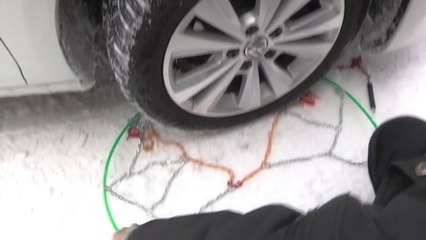 POLAIRE Prime 9 : passanger car snow Chain fiting - Chaine à neige tourisme démontage