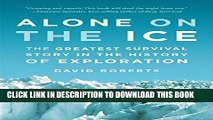 New Book Alone on the Ice: The Greatest Survival Story in the History of Exploration