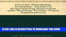 [PDF] Human Reliability Analysis: A Systems Engineering Approach with Nuclear Power Plant