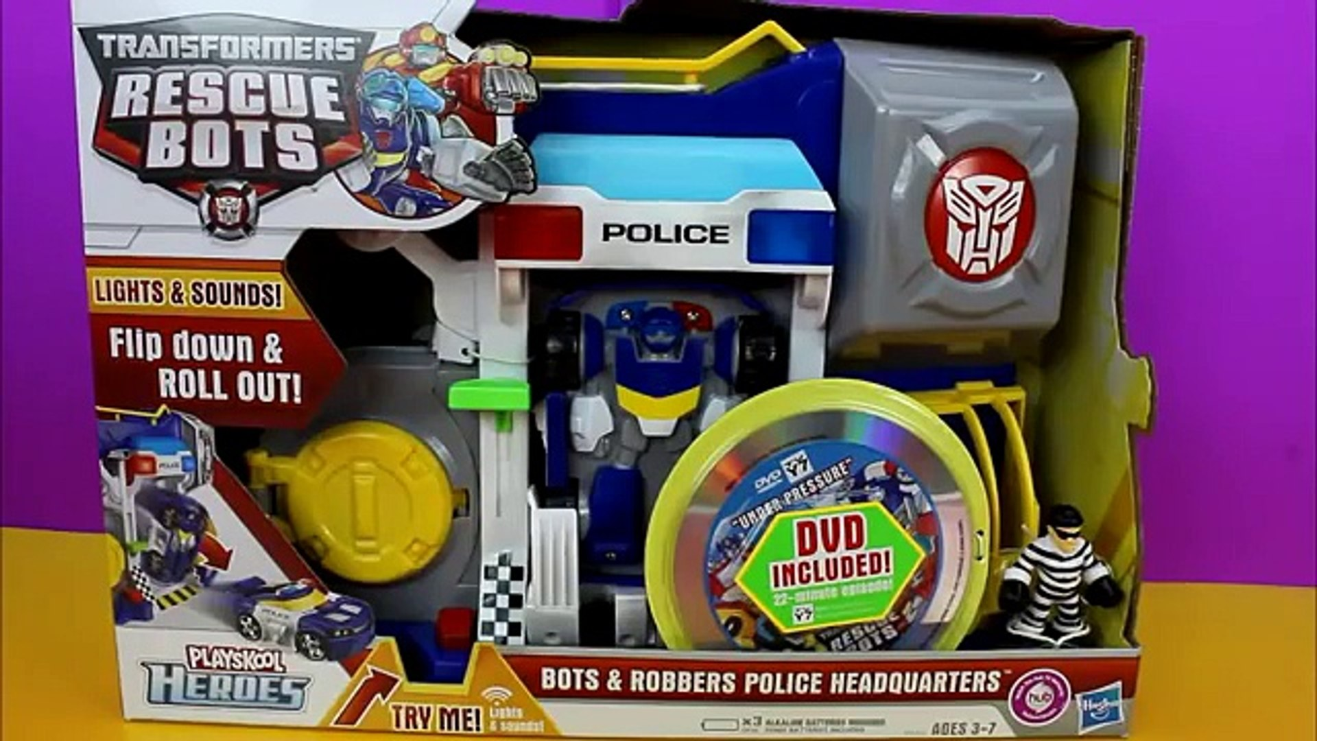 Transformers Rescue Bots Bots & Robbers Police Headquarters Playskool Heroes