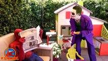 BAD Baby JOKER and Joker DAD pranks Spiderman ¦ Joker Dad turns into Bad Joker Boy Superhero movies