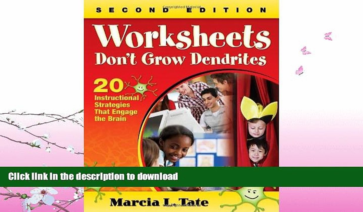 20 Instructional Strategies That Engage the Brain Worksheets Dont Grow Dendrites