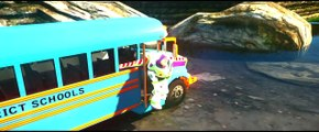 Wheels On The Bus Go Round And Round Spiderman Toys Story Nursery Rhymes for Children Kids Songs