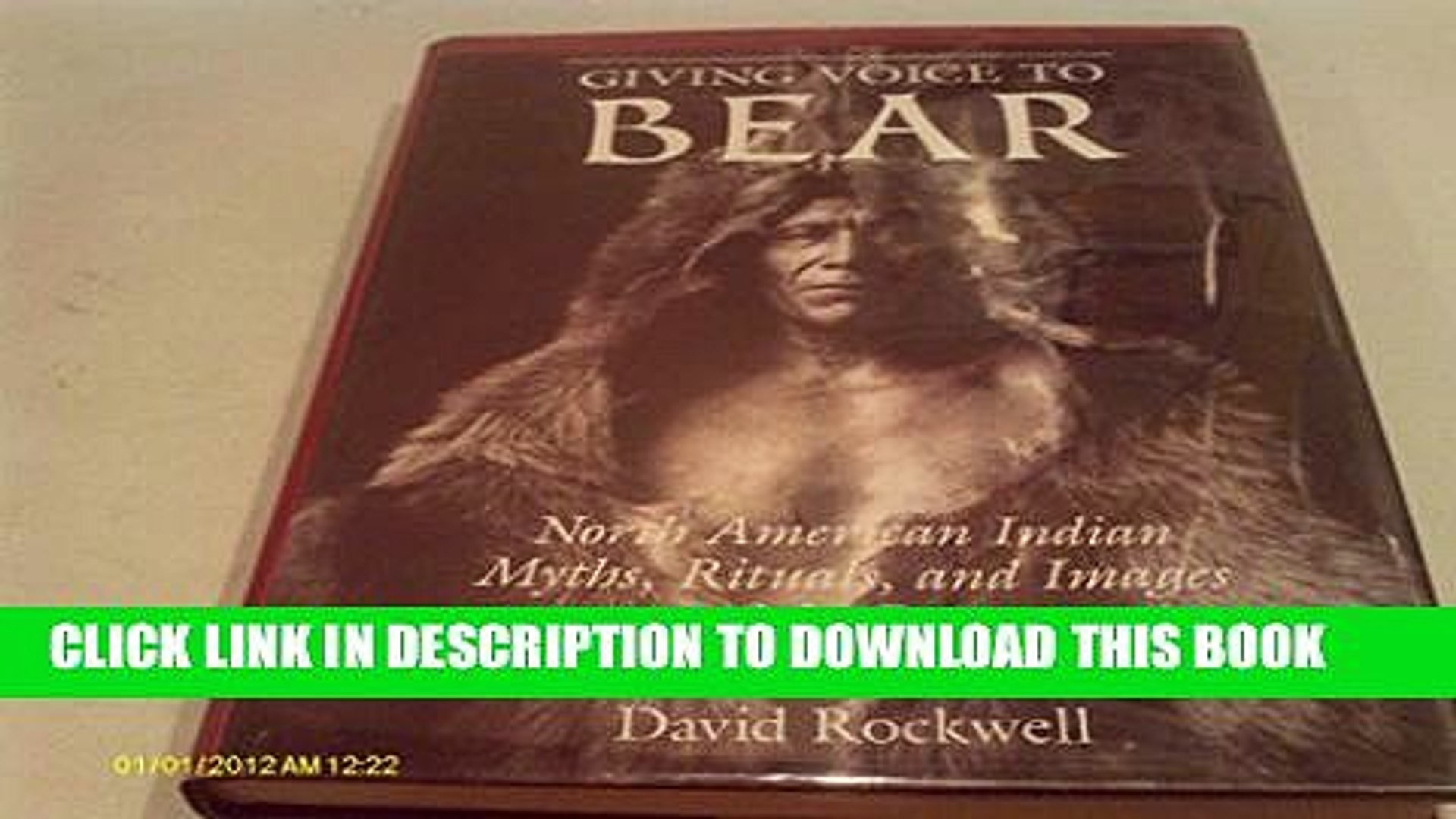 [PDF] Giving Voice to Bear: American Indian Myths, Rituals and Images of the Bear Full Collection