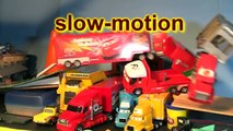Pixar Cars Smash up Derby with the Haulers and Lighting McQueen, Monster Mutt and Screaming Banshee