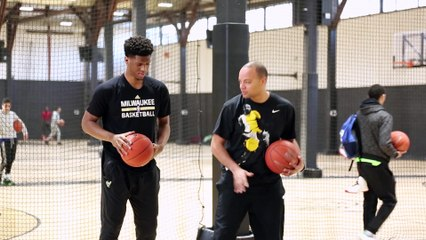 Damien Inglis en workout à la Hoops Factory