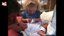 Darling Girl Calms Newborn Sister