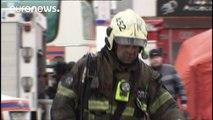 موسكو: مقتل 8 عناصر من فريق الاطفاء في حريق بمستودع لأواني البلاستيك