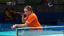 Amazing diving shot from Kelly van Zon - Table Tennis Rio 2016 Paralympic Games