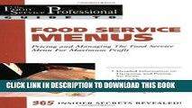 [PDF] Food Service Menus: Pricing and Managing the Food Service Menu for Maximun Profit Full
