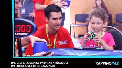 Un roumaine de 6 ans parvient à résoudre un Rubik's Cube en 41 secondes (vidéo)
