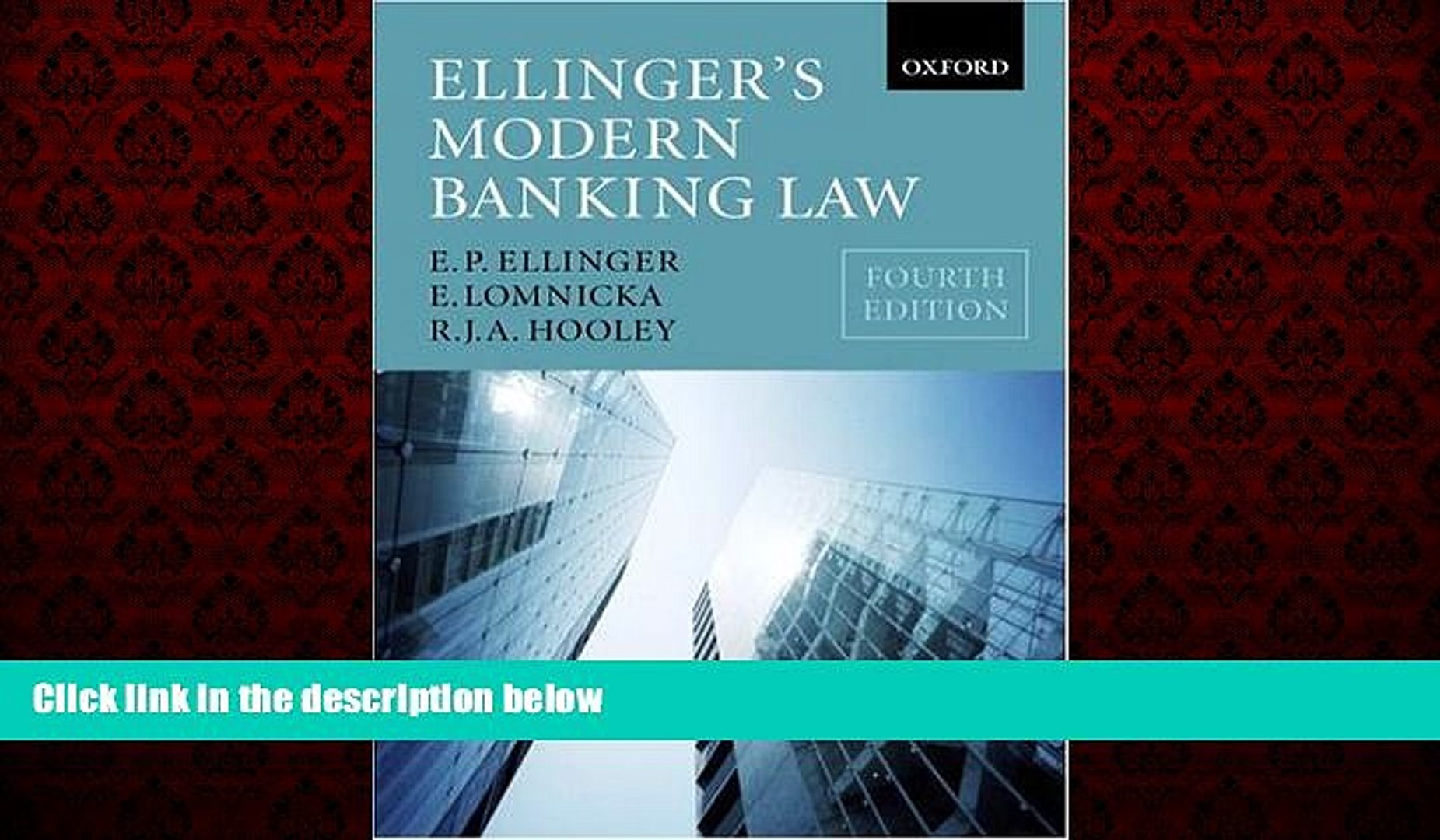 READ book  Ellinger s Modern Banking Law  FREE BOOOK ONLINE