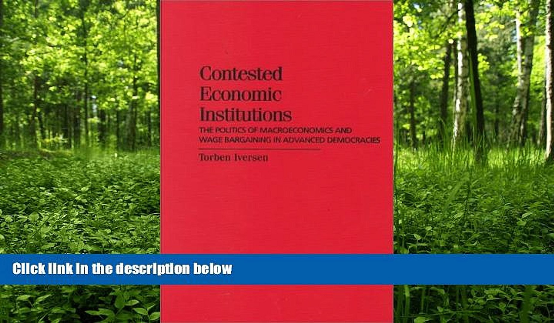 READ book  Contested Economic Institutions: The Politics of Macroeconomics and Wage Bargaining in