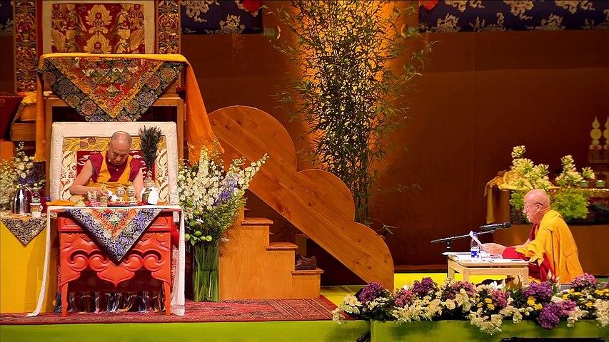 Dalai Lama France 2016 - preliminar para o Iniciação Chenrezig