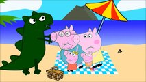 Peppa Pig George Crying Bees Sting And George Is Injected Medicine ~ Finger Family Nursery Rhyme