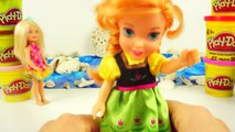 Play Doh Mermaid Disney Frozen Anna Barbie Play Dough Dolls Dresses By Disney Toys Collector