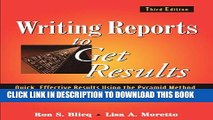 [PDF] Writing Reports to Get Results: Quick, Effective Results Using the Pyramid Method Full Online