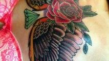 Modèle de tatouage d'ailes d'anges