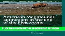 [PDF] American Megafaunal Extinctions at the End of the Pleistocene (Vertebrate Paleobiology and