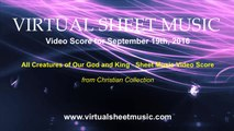 All Creatures of our God and King - Alto Sax and Piano Sheet Music Video Score