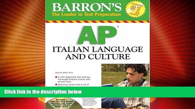 Big Deals  Barron s AP Italian Language and Culture: with Audio CDs  Free Full Read Most Wanted