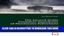 [PDF] The Second-Order Predation Hypothesis of Pleistocene Extinctions: A System Dynamics Model